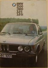 BMW 2500 2800 3.0 S Si Saloon 1973-74 Original UK Sales Brochure Pub. 332080012