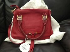 Chloe Marcie Medium Satchel Crossbody NWT $1950 Holly Berry Red AUTHENTIC