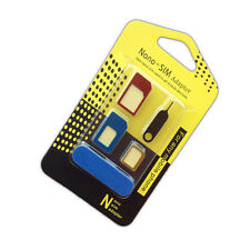 5 in 1 Nano SIM Card to Micro Standard Adapter Converter Set Tool for iPhone
