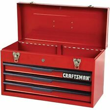 "Craftsman 21"" 3-Drawer Ball Bearing Slides Portable Toolbox Red- includes"