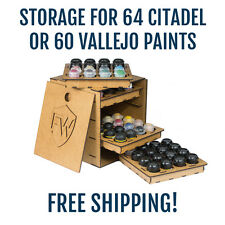 Paint Cube Storage Rack for 64 Citadel or Vallejo bottles