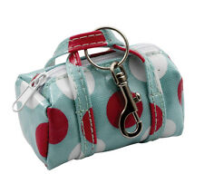 Green Spotty Oilcloth Mini Bag Keyring Key Chain Katz Dancewear KR20 Christmas
