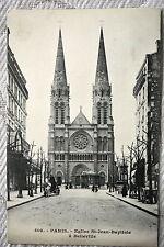 """CPA """" PARIS - Eglise St Jean Baptiste à Belleville"""