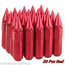 20Pcs M12 x 1.5MM Red Aluminum Spiked Wheel Lug Nuts Kit For Honda Civic Accord