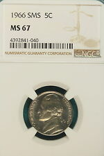 1966  NGC SMS MS 67  Jefferson Nickel #A7089