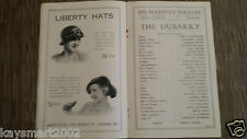 Theatre Programme: THE DUBARRY - ANNE AHLERS, HELEN HAYE, MIMI CRAWFORD