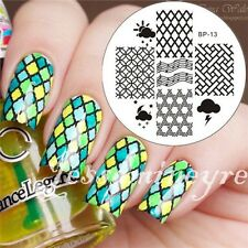 Nail Art Stamp Template Image Stamping Plate Grid Music Note BORN PRETTY 13