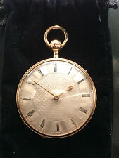 pocket watch repetition repeater sonnerie verge coq fusee,18 k gold,1800
