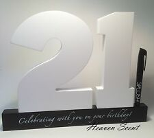 Happy 21st Birthday Gifts Wooden Signature Number Great Gift Ideas By Splosh