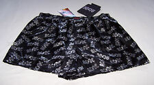 ACDC Logo Rock Mens Black Grey Printed Satin Boxer Shorts Size S New + Bonus