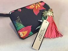 NWT VICTORIA'S SECRET FLORAL HIBISCUS MULTI-COLOR LUGGAGE TAG TASSEL & GOLD TREE