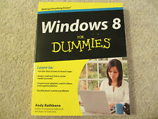 ☀️ NEW WINDOWS 8 For DUMMIES Paperback Book by Andy Rathbone Operating System
