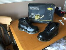 Vintage Dr Martens 7751 black boots UK 4 EU 37 ENGLAND steel punk walking 1460
