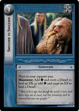 LoTR TCG FoTR Fellowship Of The Ring Shoulder to Shoulder FOIL 1C59