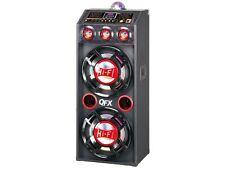 "QFX SBX-412207BT 12"" Amplified PA Speaker System +Bluetooth +USB/SD +Disco Light"