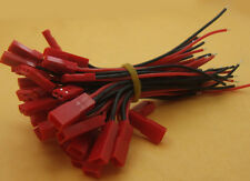10 Set RC Model 10cm 20 AWG Silicon Wire 2-Pin JST Cable Connector Battery Plug