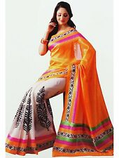 Bollywood Wedding Saree Indian Ethnic Party Wear Sari Designer Dress