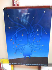 Rare JEAN MICHEL FOLON Exhibition Art Poster Angry Man
