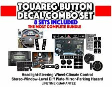 2004-2009 VW TOUAREG BUTTON STICKERS RADIO WINDOW CLIMATE LEVEL REPAIR SET