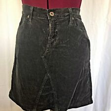 AG Adriano Goldschmied Mid Box Skirt size 10 charcoal grey cotton lycra corduroy