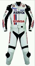 HONDA REPSOL WHITE MotoGp MOTORBIKE LEATHER SUIT- CE APPROVED FULL PROTECTION