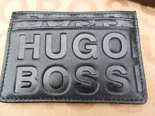 HUGO BOSS MENS SAURIO BLACK SLIM LINE LEATHER SUIT CREDIT ID CARD TIE BAG WALLET
