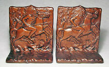 Sitting Bull Cast Iron Bookends by Judd marked 9844/Rare with Tag/Near Mint!