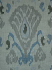 "ZOFFANY CURTAIN FABRIC DESIGN ""Annapurna"" 1.9 METRES SKY & LINEN TOWN & COUNTRY"