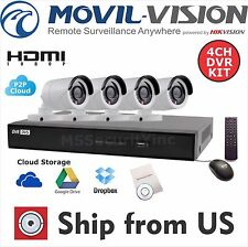 4CH KIT HD 1080p 2MP OUTDOOR CAMERA DVR Hikvision OEM WITHOUT HDD KTTVI4B4-NHD