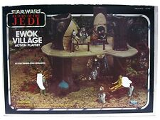 Vintage 1983 Kenner Star Wars Ewok Village Treehouse Playset 100% Complete w/Box