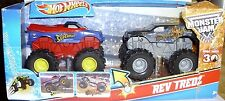Hot Wheels Monster Jam Rev Tredz Monster Trucks SUPERMAN & OUTLAW