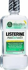 4 Pack Listerine Naturals Antiseptic Adult Mouthwash Herbal Mint 16.9oz Each