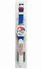 Brand New Swiss Swatch GZ 134 St. Moritz 1928 Olympic Special 1994 Summer Watch