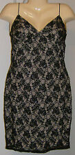 Adrianna Papell Spaghetti Strap Cocktail Dress NWT Black Size 10 Lace Beads