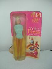 Original Vintage Malibu Barbie Doll 1971 in Box Mod Era Twist and Turn