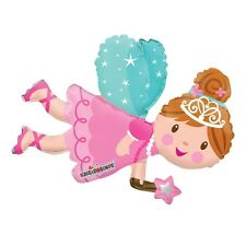 "Fairy Themed Birthday Party Decoration Fairy Shaped Air Fill 14"" Foil Balloon"