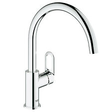 Grohe Bauloop Swivel High Spout Kitchen Basin Sink Modern Mixer Tap Single Lever