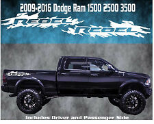 2009-2016 Dodge Ram Rebel Vinyl Decal Graphic Truck Bed Stripes 1500 2500 3500