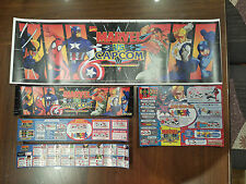 (CPS2 Jamma) Marvel vs CAPCOM (CARD) Marquee Insert Art set (Replica)