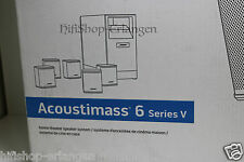 BOSE ACOUSTIMASS 6 SERIES V - 5,1 ALTOPARLANTI HOME CINEMA-System Nero Nuovo/Scatola Originale