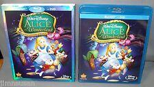 Disney's ALICE IN WONDERLAND 60th Anniv. (2011)~2 Disc BLU-RAY+DVD w/ Slip Cover