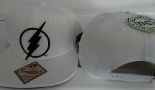 The Flash Logo DC Comics White Snap Back Hat