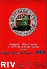 PUBBLICITA' REGISTRATORE DI CASSA RIV CUSCINETTI TORINO INCASSI AZIENDA 1941