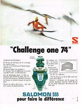 PUBLICITE  1973   SALOMON 555   FIXATIONS DE SKIS