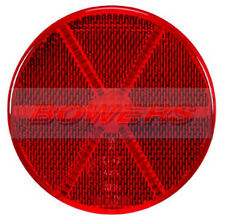 REAR RED ROUND STICK ON ADHESIVE REFLECTOR 85mm CAR TRUCK VAN MOTORCYCLE BIKE