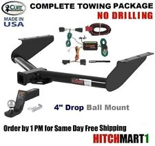 """CURT TRAILER HITCH COMPLETE PACKAGE FOR 2008-2012 JEEP LIBERTY CLASS 3, 2"""" TOW"""