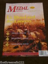 MEDAL NEWS - Lt BLOOD & THE LANCERS - DEC 2003