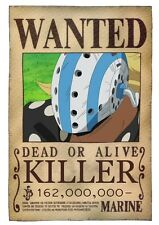 POSTER ONE PIECE KILLER RUFY RUBBER WANTED TAGLIA LUFFY ANIME MANGA ACE ZORO #1