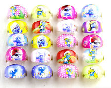 new 20pcs The Smurfs kids children resin rings cute smurfs free post