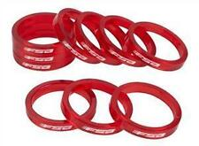 """FSA Bicycle Polycarbonate Headset Spacers 1-1/8"""" x 5mm 10pk Transparent Red Bike"""